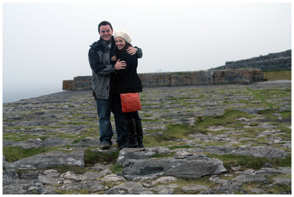 Just before proposing at Dun Aengus