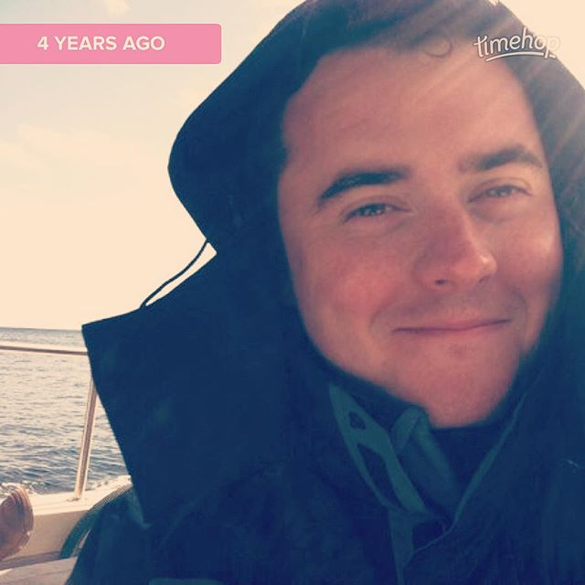 still one of my favorite pictures of my other half, taken off the coast of Ireland